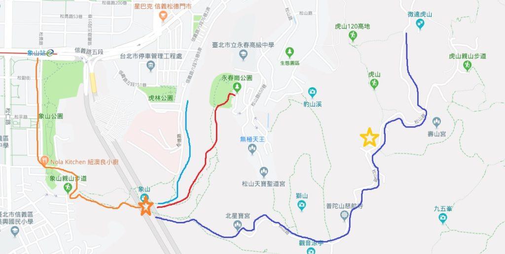 象山導覽路線圖